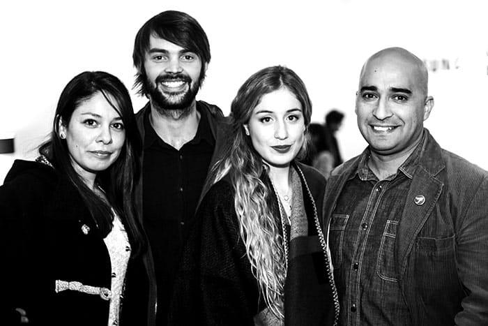 Claudia Westphal, Robert Pinter, Daniela Castro y Tomás Olivera